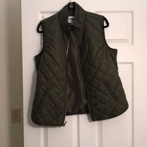 OLD NAVY green quilted vest